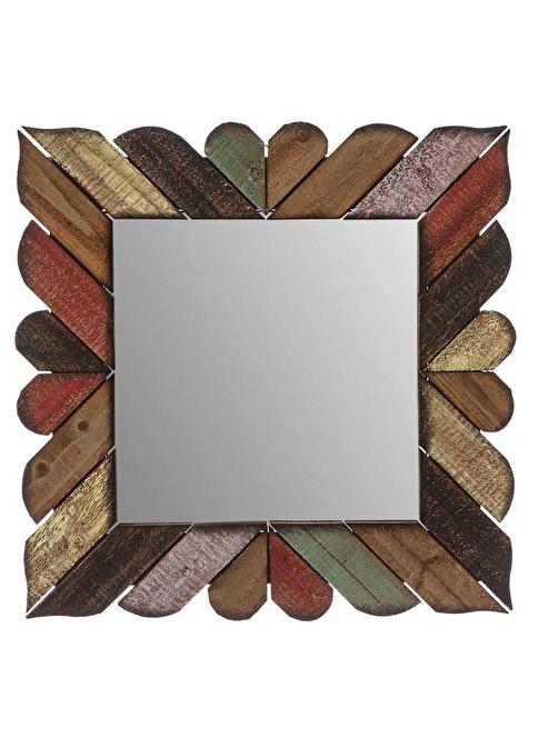 Vitale Ahşap Kare Ayna Renkli